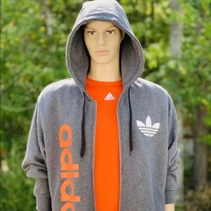 Adidas Full Zip Hoodie Sweatshirt Size Men's XL